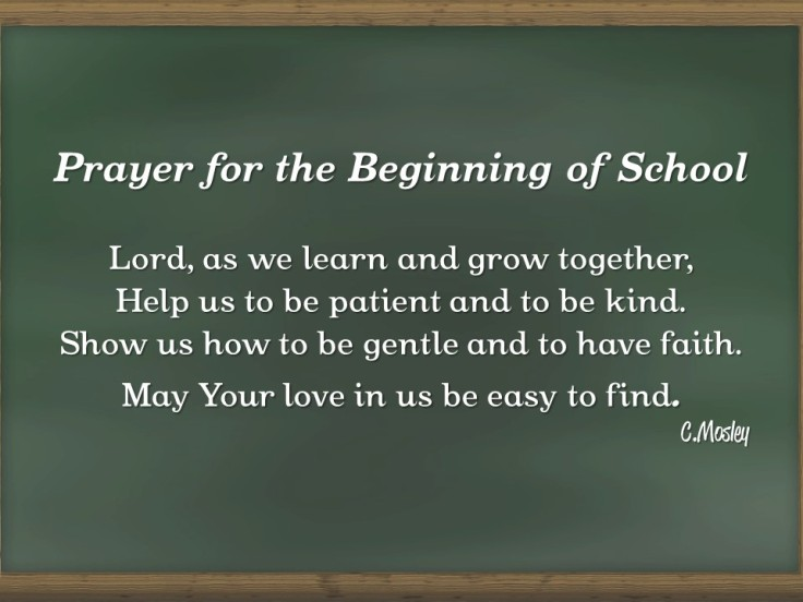 Beginning of School Prayer