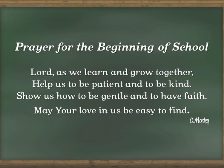 Beginning of School Prayer
