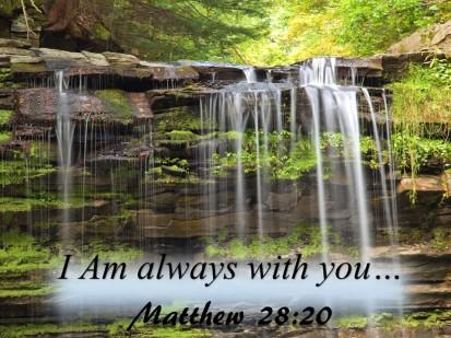 Matthew 28 20