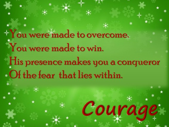 Courage Blessing