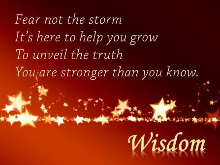 Wisdom Blessing