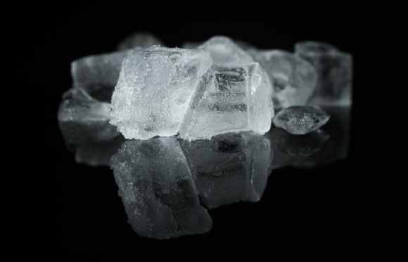 clear close up cold cool