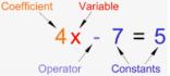 Linear Equation Vocabulary